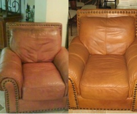 Leather chair care