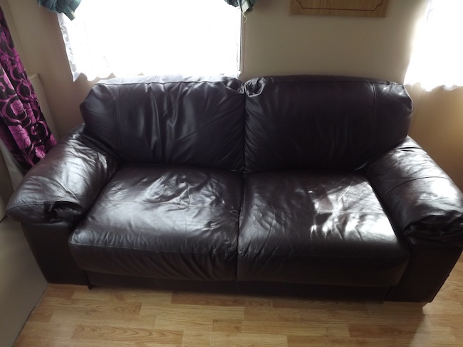 Before Leather Sofa